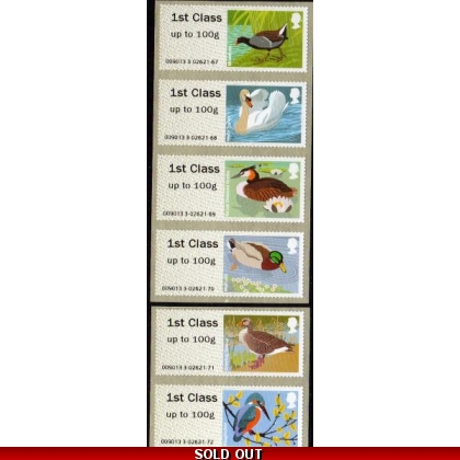 FS04ac Birds 3 Faststamps 6 x 1st from Croydon